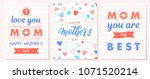 set of creative mothers day... | Shutterstock .eps vector #1071520214