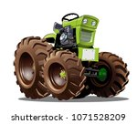 vector cartoon tractor.... | Shutterstock .eps vector #1071528209