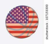 basket ball with usa flag | Shutterstock .eps vector #107153300