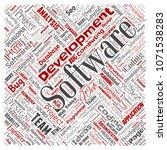 conceptual software development ... | Shutterstock . vector #1071538283