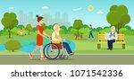 vector summertime flat... | Shutterstock .eps vector #1071542336