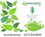 ecology connection  concept... | Shutterstock .eps vector #1071542804