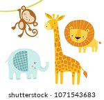A Set Of Cute Jungle Animals...