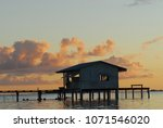 pearl farm at sunset in french... | Shutterstock . vector #1071546020