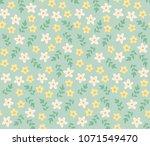 cute small flowers vector... | Shutterstock .eps vector #1071549470