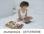 young wonderful model posing on ...   Shutterstock . vector #1071550358