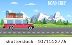 web banner on the theme of road ... | Shutterstock .eps vector #1071552776