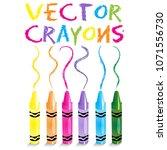 vector crayons   back to school ... | Shutterstock .eps vector #1071556730