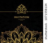 save the date invitation card... | Shutterstock .eps vector #1071558134