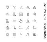 sport outline icons 25 | Shutterstock .eps vector #1071561320