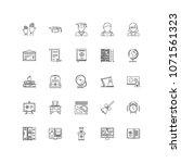 school outline icons 25 | Shutterstock .eps vector #1071561323