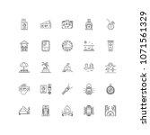 travel outline icons 25 | Shutterstock .eps vector #1071561329