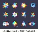 trendy logos geometric opacity... | Shutterstock .eps vector #1071562643
