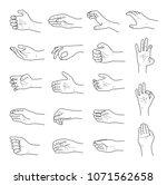 hand gestures contour sketch... | Shutterstock .eps vector #1071562658