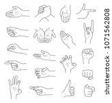 hand gestures contour sketch... | Shutterstock .eps vector #1071562808
