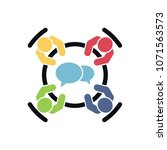 business meeting vector icon.... | Shutterstock .eps vector #1071563573