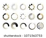 set loading icons. load. load...   Shutterstock .eps vector #1071563753