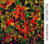 abstract psychedelic background ... | Shutterstock . vector #1071567743