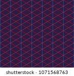 isometric grid. vector seamless ... | Shutterstock .eps vector #1071568763