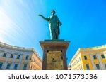 duke de richelieu monument in... | Shutterstock . vector #1071573536