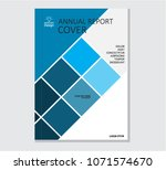 annual business report cover... | Shutterstock .eps vector #1071574670