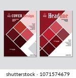 annual business report cover... | Shutterstock .eps vector #1071574679