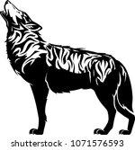 wolf art howling cut out...   Shutterstock .eps vector #1071576593