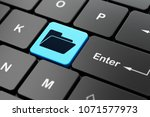 finance concept  computer... | Shutterstock . vector #1071577973
