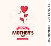 happy mother day  holiday pink... | Shutterstock .eps vector #1071578756