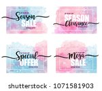 set of stickers for discounts... | Shutterstock .eps vector #1071581903