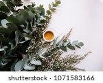delicious fresh morning... | Shutterstock . vector #1071583166