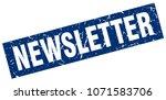 square grunge blue newsletter... | Shutterstock .eps vector #1071583706