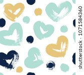 seamless pattern with hearts in ... | Shutterstock .eps vector #1071584360