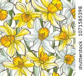 seamless floral pattern on... | Shutterstock .eps vector #1071585398