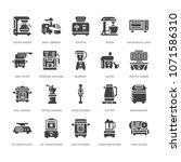 kitchen small appliances flat... | Shutterstock .eps vector #1071586310