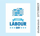 happy labour day design with... | Shutterstock .eps vector #1071588029