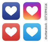 vector collection of like icons ... | Shutterstock .eps vector #1071594116