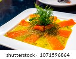 sour spicy salmon. mixed sour... | Shutterstock . vector #1071596864
