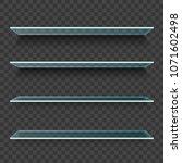 glass shelves for product on... | Shutterstock .eps vector #1071602498