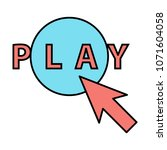 flat play vector logo icon...