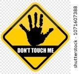 do not touch me | Shutterstock .eps vector #1071607388