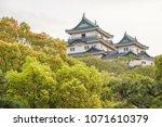 wakayama castle in spring time | Shutterstock . vector #1071610379