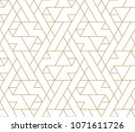 abstract geometric pattern with ... | Shutterstock .eps vector #1071611726