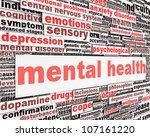 mental health message concept.... | Shutterstock . vector #107161220