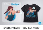 t shirt design with angry...   Shutterstock .eps vector #1071614039