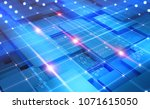 cyberspace abstract concept.... | Shutterstock . vector #1071615050