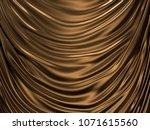 luxury golden liquid or wave...   Shutterstock . vector #1071615560