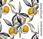 watercolor seamless pattern... | Shutterstock . vector #1071619433