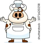 a cartoon illustration of a cow ... | Shutterstock .eps vector #1071620258