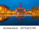 Night View Of The Town Hall In...